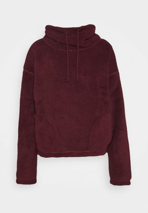 REVERSIBLE SHERPA - Fleece jumper - tan/rust