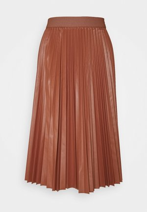 FLAVIANA - Pleated skirt - rust