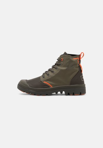PALLAFIN UNISEX - Lace-up ankle boots - dark olive
