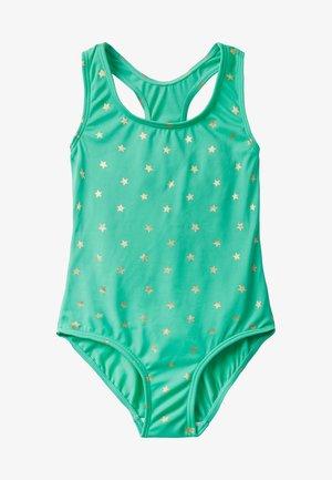 Swimsuit - hellgrün, goldene foliensterne