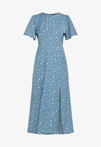 Missguided - FLUTTER MIDI DRESS POLKA - Denní šaty - blue - 4