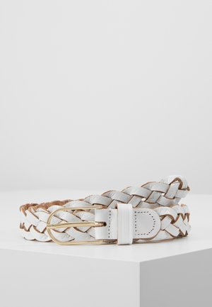 Braided belt - white