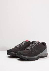 Salomon - OUTLINE - Hiking shoes - black/quiet shade/high risk red - 2