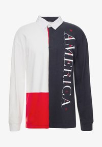 Perry Ellis America - COLOR BLOCK RUGBY - Polotričko - bright white - 3