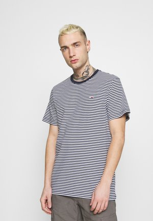 CLASSICS STRIPE TEE - T-shirt con stampa - blue