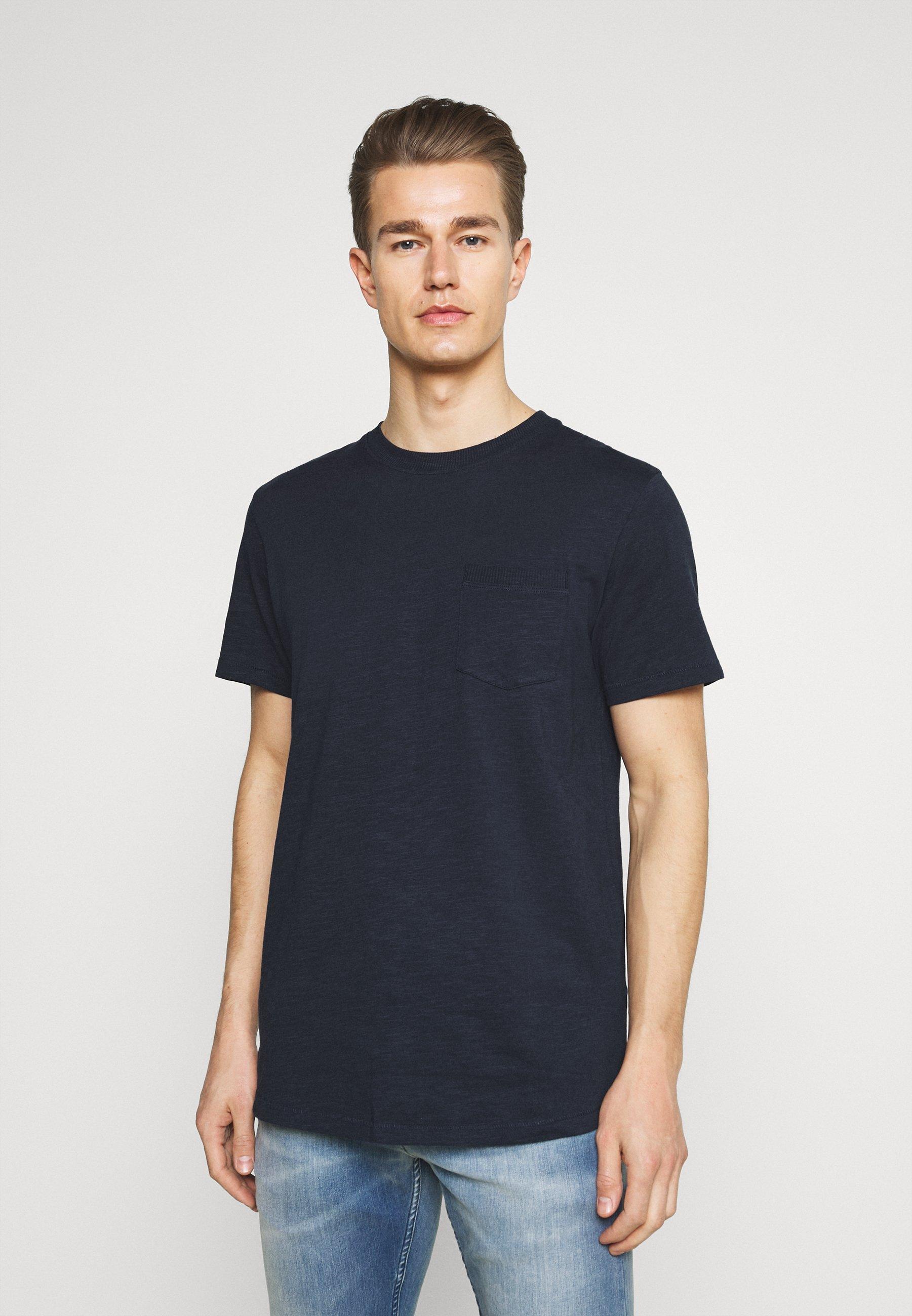 Men SLHREGCARLOS  O NECK TEE - Basic T-shirt
