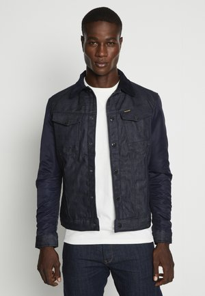 ARC 3D SLIM PADDED - Veste en jean - kir denim/raw denim