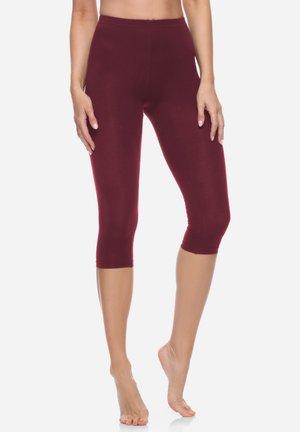 Leggings - Trousers - red wine