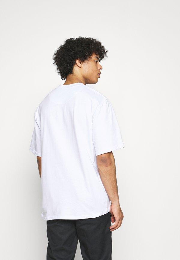 Karl Kani RETRO TEE UNISEX - T-shirt z nadrukiem - white/biały Odzież Męska DUPW