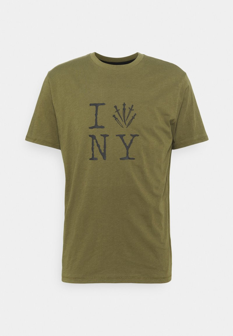 rag & bone - DAGGER NY TEE - Triko spotiskem - armygreen