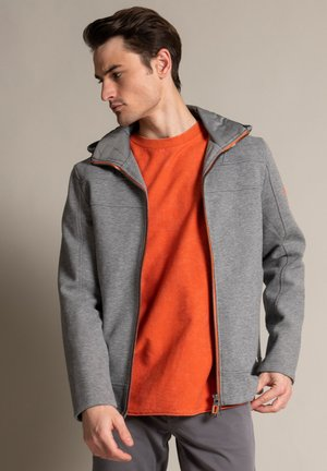 Training jacket - grau meliert