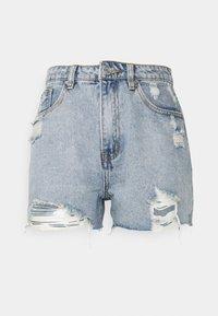 Missguided Petite - HEM DISTRESS - Shorts di jeans - blue - 0