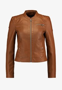 Vero Moda - VMSHEENA SHORT JACKET - Faux leather jacket - cognac - 4