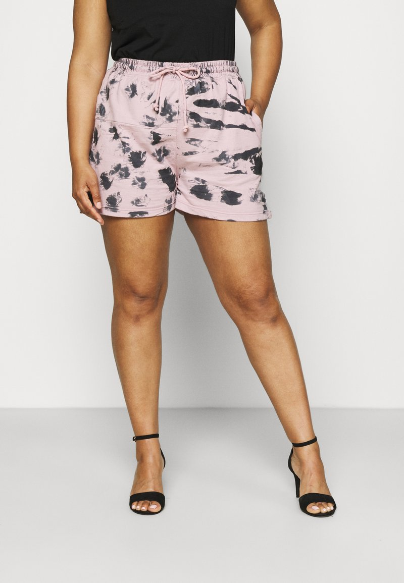 Missguided Plus - RIE DYE RUNNER - Shorts - pink