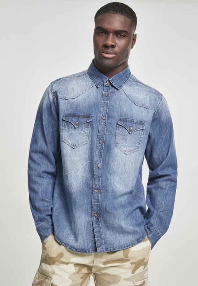HERREN RILEY DENIMSHIRT - Camicia - blue