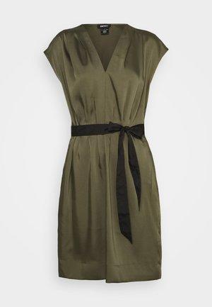CAP V NECK DRESS - Day dress - rosemary