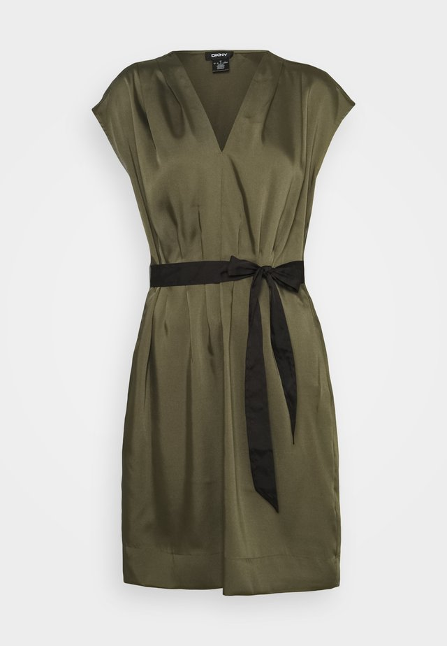 CAP V NECK DRESS - Korte jurk - rosemary
