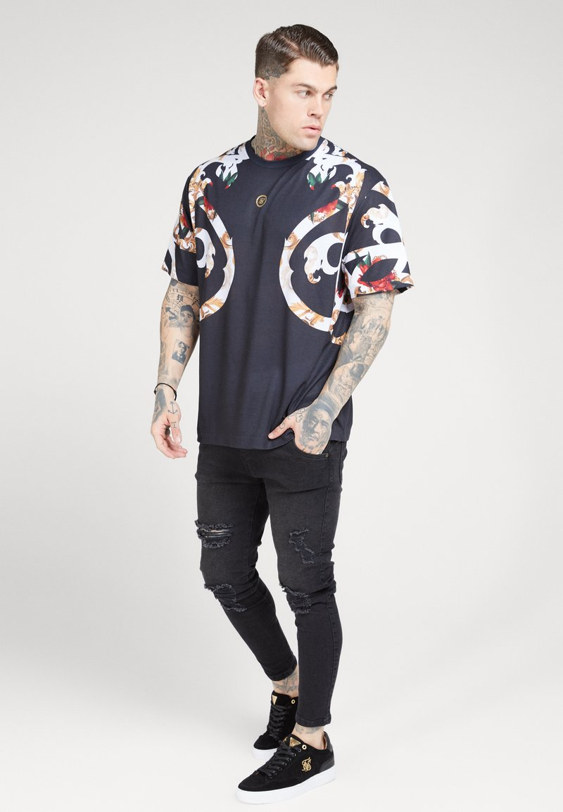 SIKSILK - BOXY FLORAL TEE - Triko s potiskem - multi-coloured