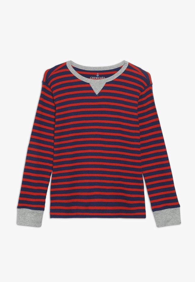 STRIPE WAFFLE - T-shirt à manches longues - blue/red