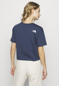 The North Face - CROPPED SIMPLE DOME TEE - T-shirt imprimé - blue wing teal - 2