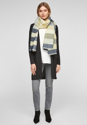 Scarf - light yellow stripes
