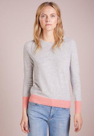 CLASSIC CREW NECK COLOR BLOCK - Trui - light grey/coral pink