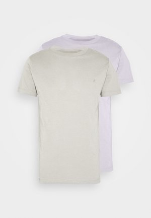 2 PACK  - T-shirts - light purple/sand