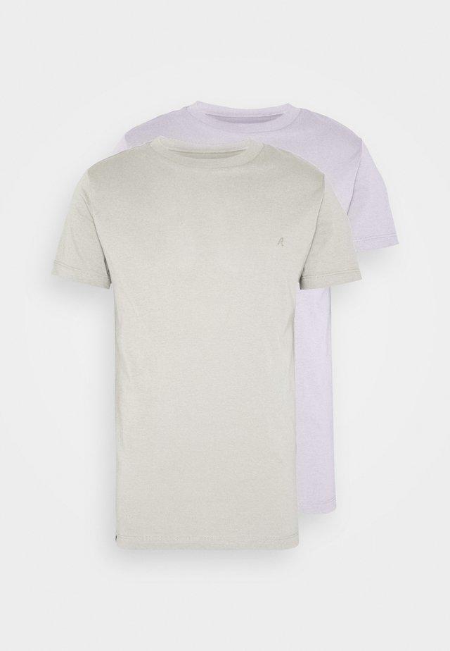 2 PACK  - Basic T-shirt - light purple/sand