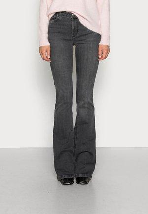 BEAT - Bootcut jeans - denim dark grey wash