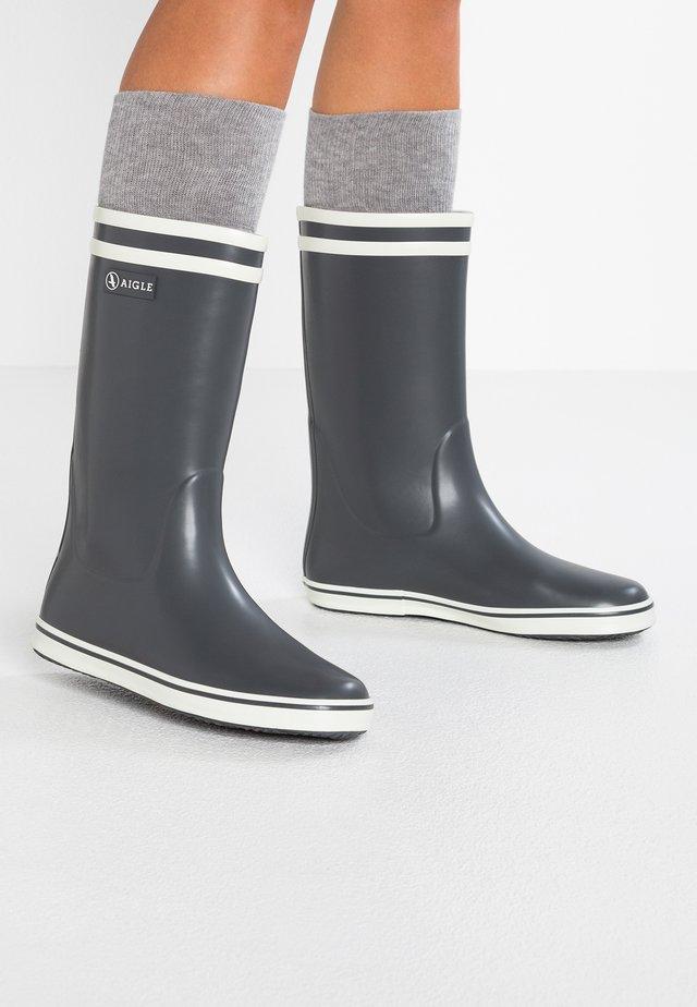 MALOUINE - Stivali di gomma - charcoal