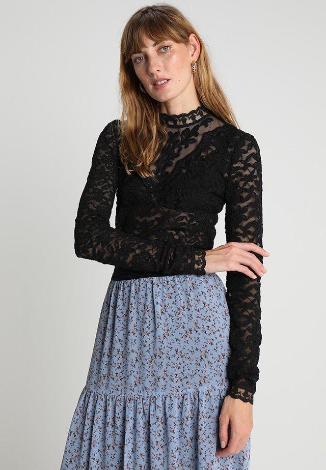 T-SHIRT LS - Bluse - black