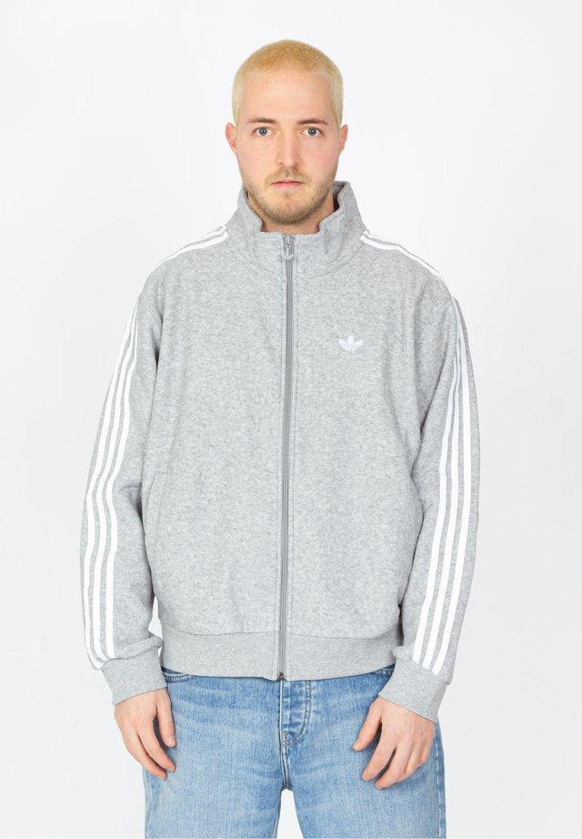 Fleece jacket - grey / white