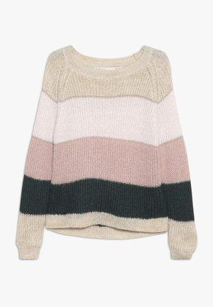 KONMALONE - Jumper - pumice stone/primrose pink/misty
