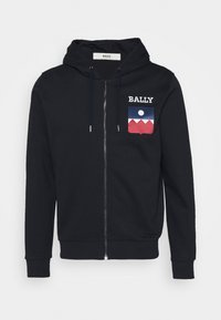 Bally - Zip-up hoodie - navy - 4