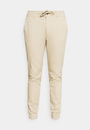 CROPPED JOGGER FIT BASIC - Trousers - sandy beige