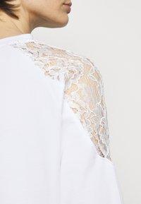 Pinko - MILIARDARIO MAGLIA FELPA - Sweatshirt - white - 4