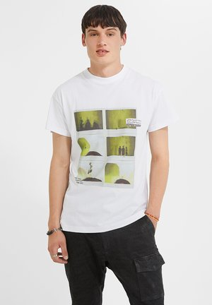 NEW DAYLEN - T-shirt print - white