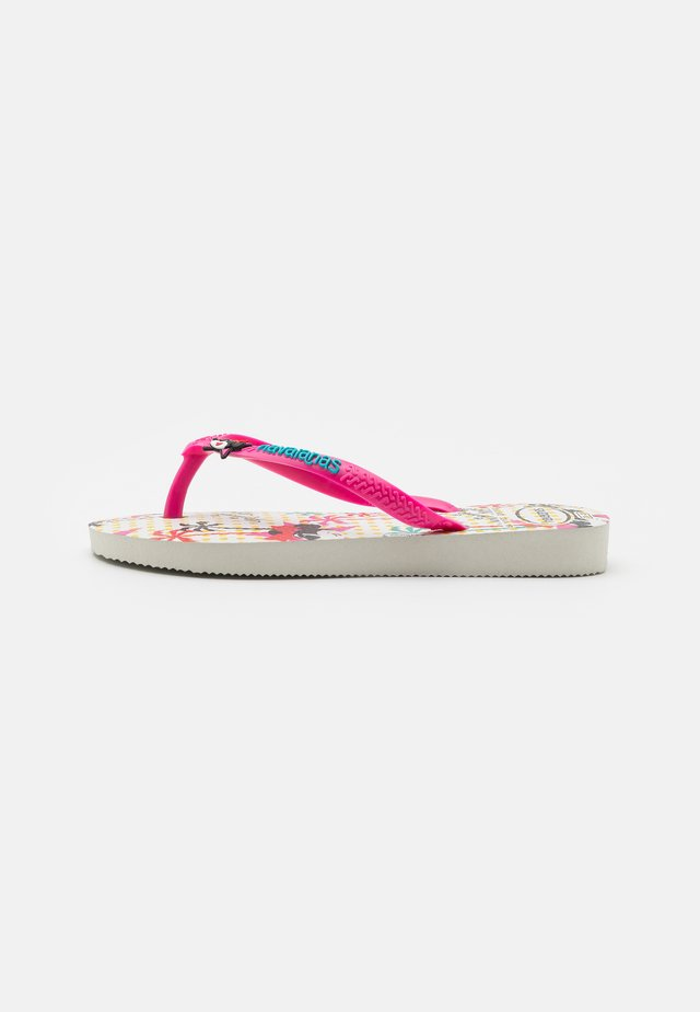 DISNEY COOL - Sandalias de dedo - white/pink flux