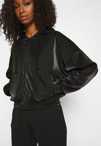 ONLY - ONLCARMEL ZIP HOOD - Zip-up hoodie - black - 3
