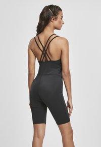 Urban Classics - FRAUEN LADIES CYCLE JUMPSUIT - Jumpsuit - black - 2