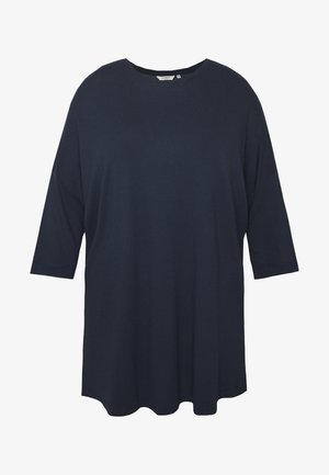BATWING WITH CUFF DETAIL - Long sleeved top - real navy blue