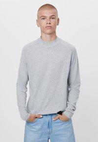 Bershka - Stickad tröja - grey - 0