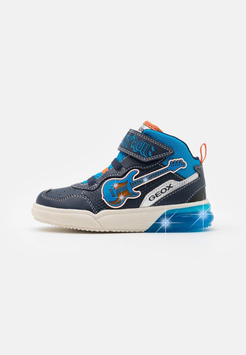 Geox - GRAYJAY BOY - Sneakersy wysokie - navy/light blue