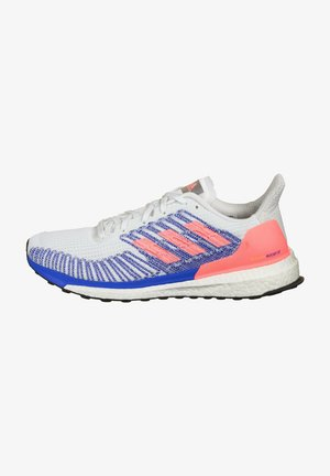 Neutral running shoes - footwear white / light fire / glow blue