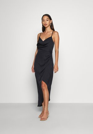 KAHLIA ASYMMETRIC COWL NECK DRESS - Cocktail dress / Party dress - navy