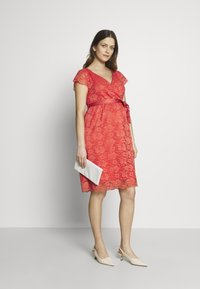 Esprit Maternity - DRESS - Cocktail dress / Party dress - coral - 1