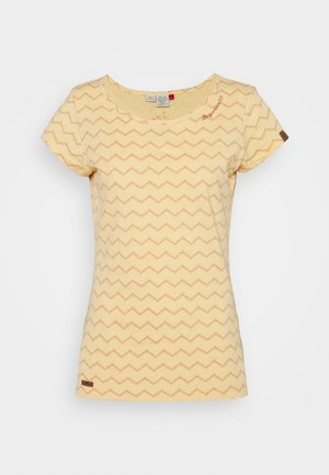 CHEVRON - T-shirts med print - yellow