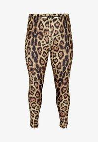 Zizzi - Leggings - Trousers - brown - 2