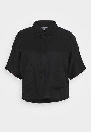 NMBLOSSOM POCKET SHIRT - Hemdbluse - black