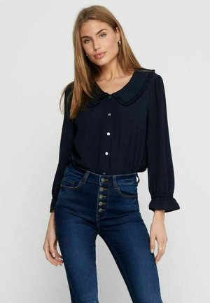 Button-down blouse - night sky
